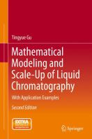 Mathematical Modeling and Scale-Up of Liquid Chromatography [electronic resource] : With Application Examples