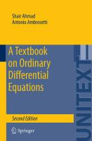 A Textbook on Ordinary Differential Equations [electronic resource]