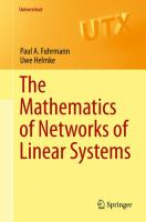The Mathematics of Networks of Linear Systems [electronic resource]