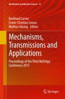 Mechanisms, transmissions and applications [electronic resource] : proceedings of the Third MeTrApp Conference 2015