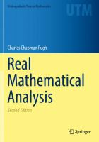 Real Mathematical Analysis [electronic resource]