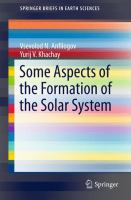 Some aspects of the formation of the solar system [electronic resource]