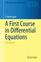 A First Course in Differential Equations [electronic resource]