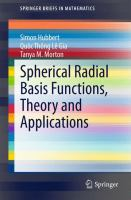 Spherical radial basis functions, theory and applications [electronic resource]