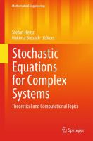 Stochastic equations for complex systems [electronic resource] : theoretical and computational topics