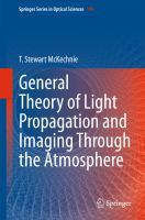 General Theory of Light Propagation and Imaging Through the Atmosphere [electronic resource]