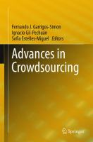 Advances in Crowdsourcing [electronic resource]