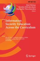 Information Security Education Across the Curriculum [electronic resource] : 9th IFIP WG 11.8 World Conference, WISE 9, Hamburg, Germany, May 26-28, 2015, Proceedings