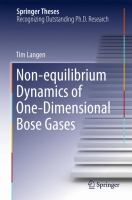Non-equilibrium Dynamics of One-Dimensional Bose Gases [electronic resource]