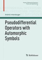 Pseudodifferential Operators with Automorphic Symbols [electronic resource]