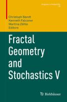 Fractal Geometry and Stochastics V [electronic resource]