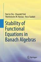 Stability of Functional Equations in Banach Algebras [electronic resource]