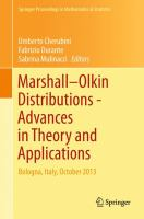 Marshall ? Olkin Distributions - Advances in Theory and Applications [electronic resource] : Bologna, Italy, October 2013