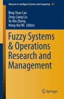 Fuzzy systems & operations research and management [electronic resource]