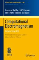 Computational electromagnetism : Cetraro, Italy 2014 cover