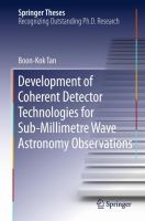 Development of Coherent Detector Technologies for Sub-Millimetre Wave Astronomy Observations [electronic resource]