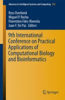 9th International Conference on practical applications of computational biology and bioinformatics [electronic resource]