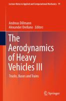 The Aerodynamics of Heavy Vehicles III [electronic resource] : Trucks, Buses and Trains