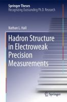 Hadron Structure in Electroweak Precision Measurements [electronic resource]