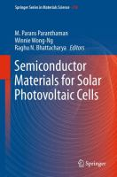 Semiconductor Materials for Solar Photovoltaic Cells [electronic resource]