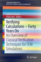 Verifying Calculations - Forty Years On [electronic resource] : An Overview of Classical Verification Techniques for FEM Simulations