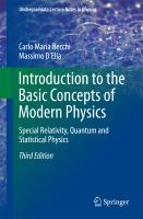 Introduction to the Basic Concepts of Modern Physics [electronic resource] : Special Relativity, Quantum and Statistical Physics