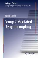 Group 2 Mediated Dehydrocoupling [electronic resource]