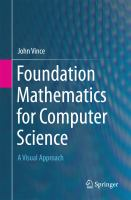 Foundation Mathematics for Computer Science [electronic resource] : A Visual Approach