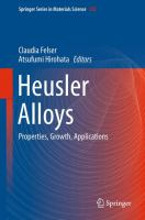 Heusler Alloys [electronic resource] : Properties, Growth, Applications