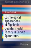 Cosmological Applications of Algebraic Quantum Field Theory in Curved Spacetimes [electronic resource]