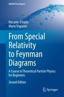 From Special Relativity to Feynman Diagrams [electronic resource] : A Course in Theoretical Particle Physics for Beginners