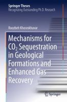 Mechanisms for CO2 Sequestration in Geological Formations and Enhanced Gas Recovery [electronic resource]