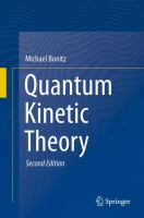 Quantum Kinetic Theory [electronic resource]