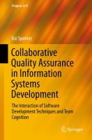 Collaborative quality assurance in information systems development [electronic resource] : the interaction of software development techniques and team cognition