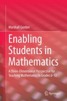 Enabling students in mathematics [electronic resource] : a three-dimensional perspective for teaching mathematics in grades 6-12
