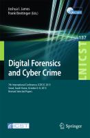 Digital Forensics and Cyber Crime [electronic resource] : 7th International Conference, ICDF2C 2015, Seoul, South Korea, October 6?8, 2015, Revised Selected Papers