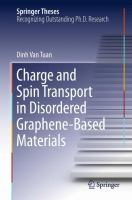 Charge and Spin Transport in Disordered Graphene-Based Materials [electronic resource]