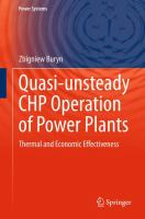 Quasi-unsteady CHP Operation of Power Plants [electronic resource] : Thermal and Economic Effectiveness