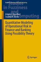 Quantitative Modeling of Operational Risk in Finance and Banking Using Possibility Theory [electronic resource]