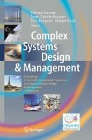 Complex Systems Design & Management [electronic resource] : Proceedings of the Sixth International Conference on Complex Systems Design & Management, CSD&M 2015