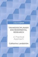 Transdisciplinary environmental research : a practical approach cover image