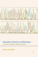 Population genetics and belonging : a cultural analysis of genetic ancestry /