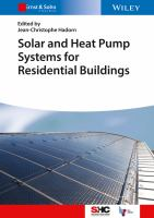 Solar and heat pump systems for residential buildings [electronic resource]