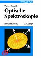 Optische Spektroskopie [electronic resource] : eine Einführung