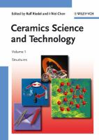 Ceramics Science and Technology. Set [electronic resource]