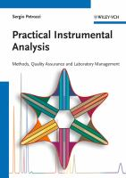 Practical instrumental analysis [electronic resource] : methods, quality assurance and laboratory management