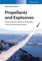 Propellants and explosives [electronic resource] : thermochemical aspects of combustion