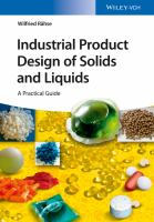 Industrial product design of solids and liquids [electronic resource] : a practical guide