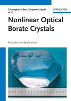 Nonlinear optical borate crystals [electronic resource] : principles and applications