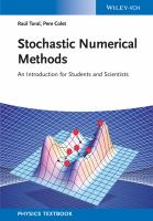 Stochastic numerical methods [electronic resource] : an introduction for students and scientists